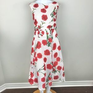Betsey Johnson Red Poppy Garden Party Dress